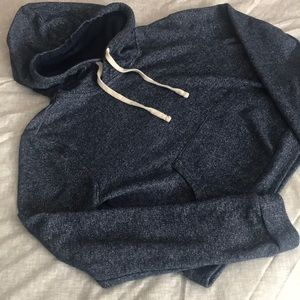 Forever 21 Blue Crop Hoodie Size L